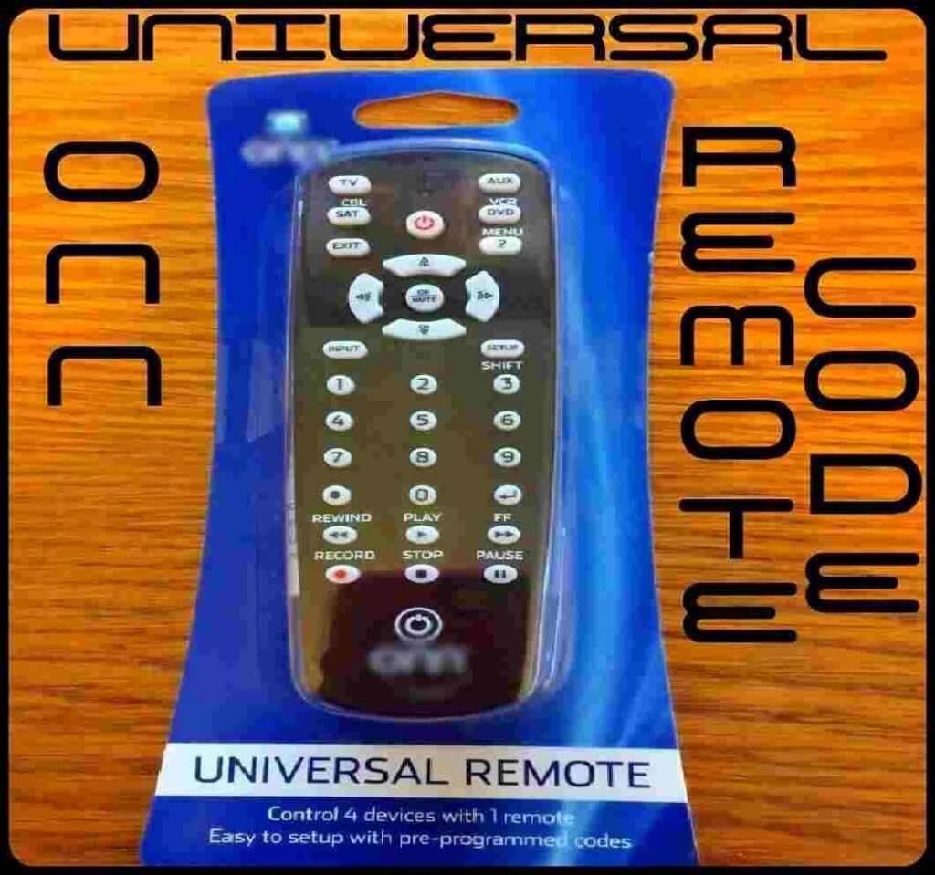 Onn Remote Codes
