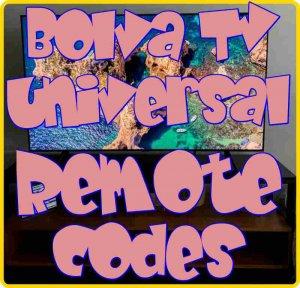 Bolva TV Universal Remote control codes
