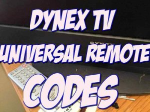 Dynex TV Universal Remote Codes