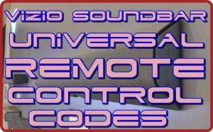 Vizio Soundbar Universal Remote control codes