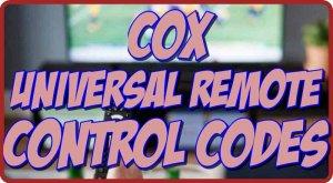 Cox Universal Remote control codes