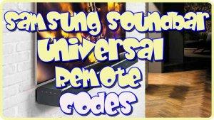 Samsung Soundbar Universal Remote codes