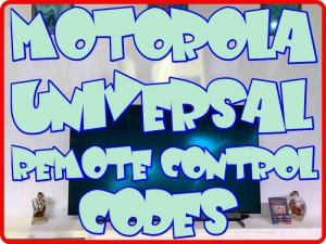 Motorola Universal Remote control codes