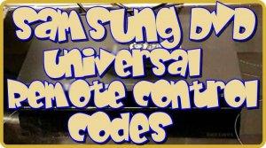 Samsung DVD Universal Remote codes