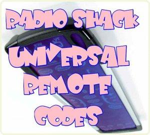 radio shack universal remote codes