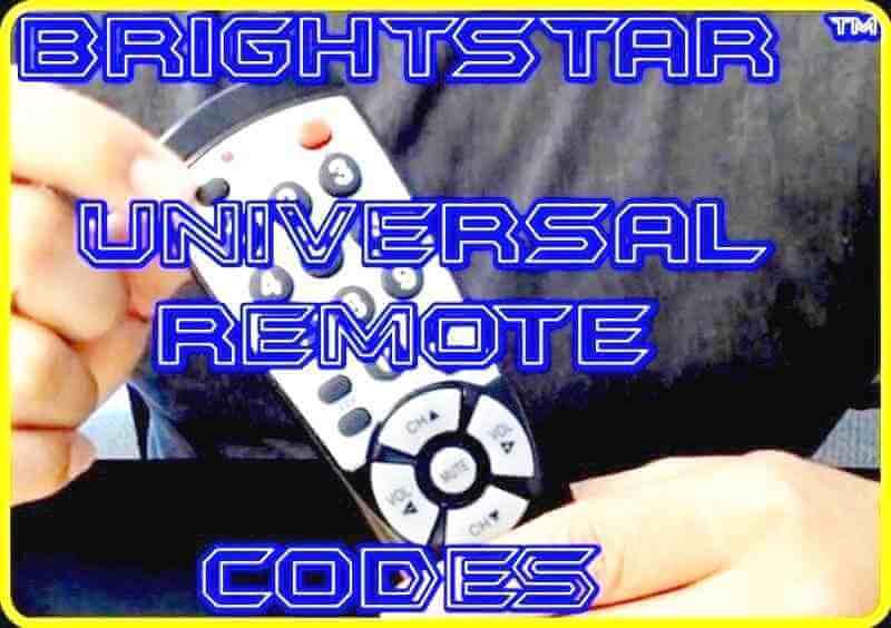 Brightstar Universal Remote codes