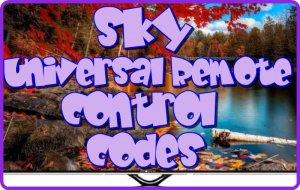 Sky Universal Remote control codes