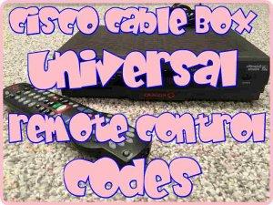 Cisco Cable Box Universal Remote codes
