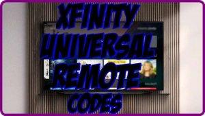 Xfinity Universal Remote codes