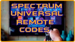 Spectrum Universal Remote Control Codes