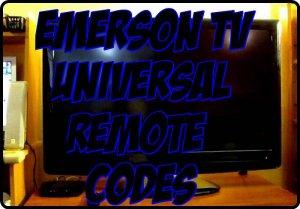 Emerson TV Universal Remote Codes