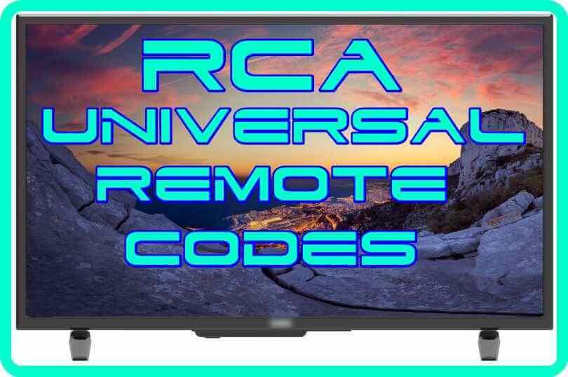 RCA universal Remote control Codes