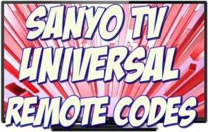 sanyo tv universal remote codes