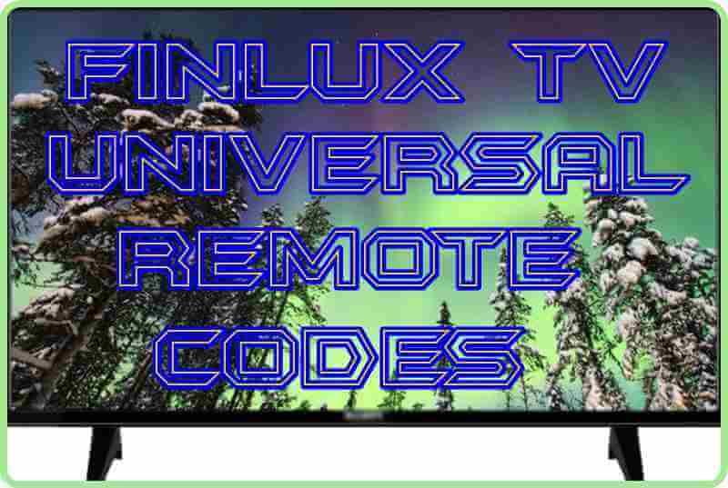 Finlux TV Universal Remote codes