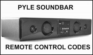 Pyle Soundbar Codes