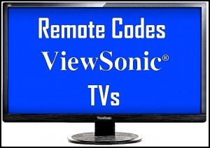 ViewSonic TVs Remote Codes and Setup Guide