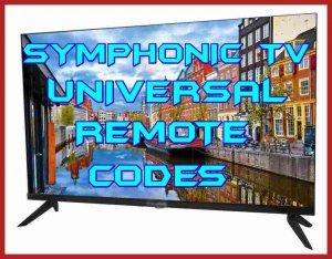 symphonic TV universal remote codes