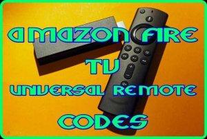 amazon fire tv universal Remote codes