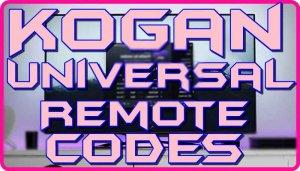 Kogan Universal remote codes