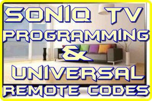 soniq tv universal codes