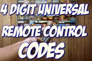 4 digit universal remote codes