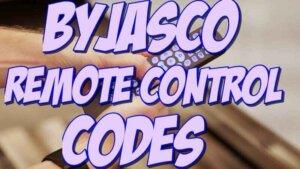 Byjasco TV Remote Codes