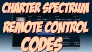 charter spectrum tv remote codes