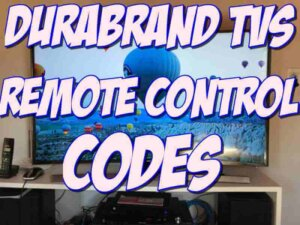 Durabrand TV Remote Control Codes