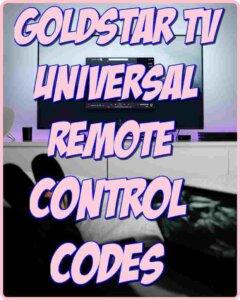 Goldstar TV Universal Remote Control Codes