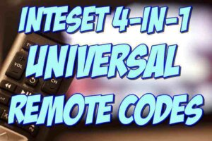 Inteset 4-in-1 Universal Remote Codes and Setup Guide