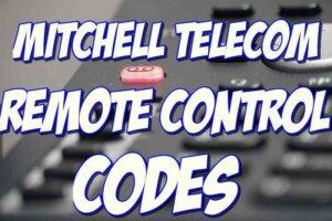 Mitchell TelecomRemote Control Codes