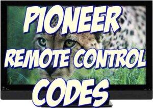 Pioneer universal remote codes
