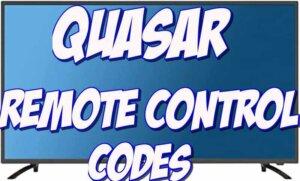 quasar tv remote codes