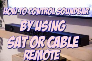 control soundbar with cable remote and PROGRAM VOLUME BUTTON