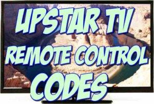 upstar tv remote codes