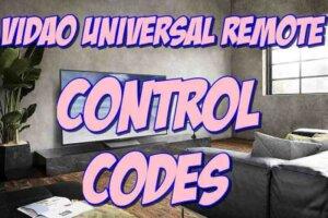program Vidao Tv remote codes