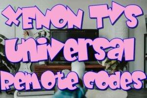 XENON TVs Remote Control Codes