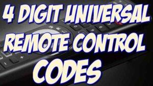 4 digit universal remote control codes