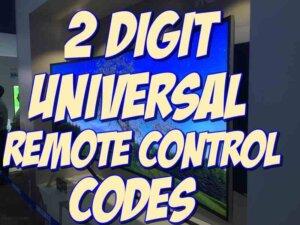 2 digit remote codes