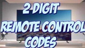 2 digit universal remote codes