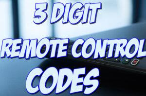 3 digit universal remote codes