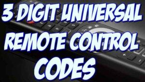3 digit remote codes