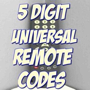 5 digit remote codes
