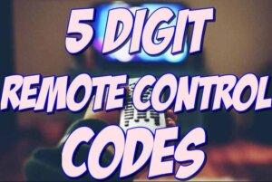 5 digit universal remote codes
