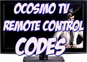 ocosmo tv remote codes