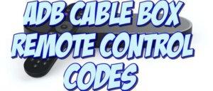 adb stb cable box remote control codes