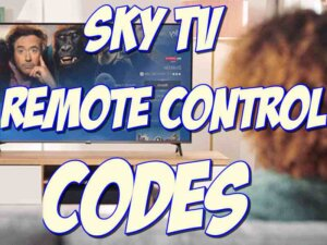 sky tv remote codes