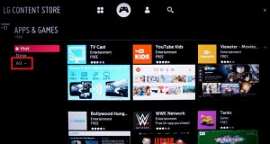 add and update apps on lg tv