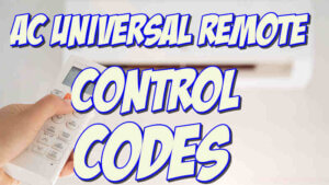 ac universal remote codes